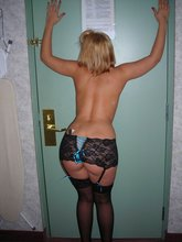 Stockings-wearing brunette GF gets on all fours to show off her incredible holes