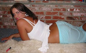 Perky brunette and her teen friends doing naughty stuff together