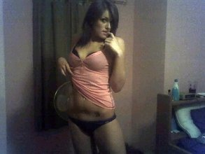 Short-haired brunette teen flashes her luxurious body for you