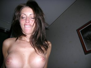 Hairy pussy brunette with a nice set of breasts ends up riding her boyfriend