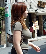 Voyeur shots of the bustiest Asian babes out and about/on the job