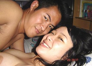 Asian beauty with a tight body fucking her douchey-looking boyfriend