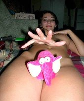 Fun-loving brunette teen shows her naked body and that trimmed pussy