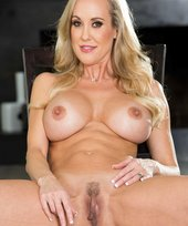 Hairy pussy MILF blonde seductress showing off her love hole up close