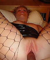 Fishnets-clad blond-haired beauty takes two dudes, gets it up the ass