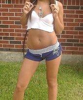Ravishing teens in bikinis/underwear show their nubile young bodies