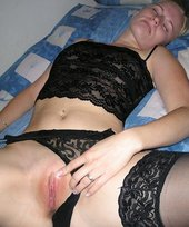 Blond-haired beauty in black stockings gets her asshole fucked brutally