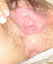 Hairy and juicy vagina is about to receive a proper fingering