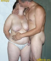 Chubby milf with enormous cans is making her man nerveous