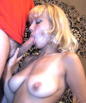 Busty blonde with a trimmed cunt lets him fuck her GOOD
