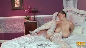 Horny bride Christy Marks fucks herself with a toy