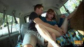 Christy Marks agrees to fuck in the backseat of a van