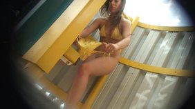 White panties amateur blonde secretly recorded in a changing booth
